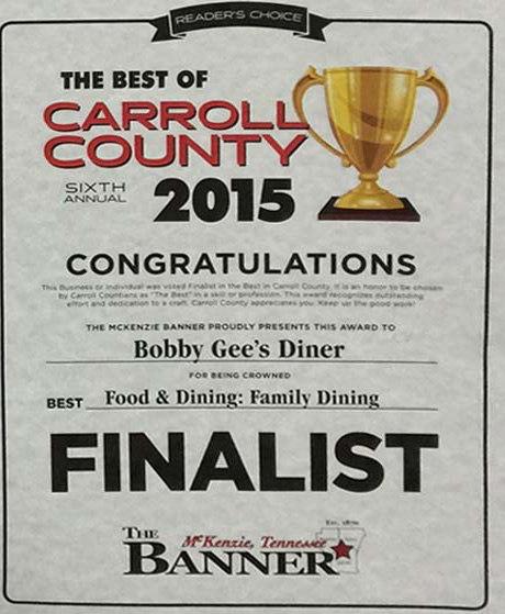2015 Family Dining Finalist