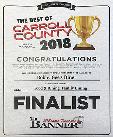 2018 Family Dining Finalist