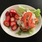 Chicken Pecan Salad Stuffed Tomato